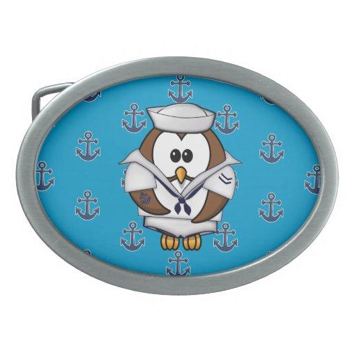 búho del marinero hebilla cinturon