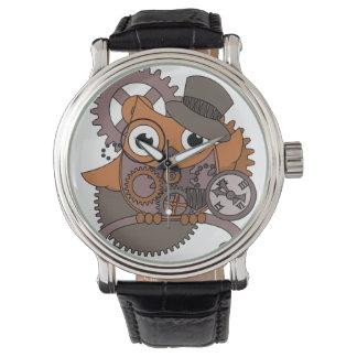 Búho del mecanismo de Steampunk Relojes De Mano