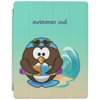 búho del nadador cubierta de iPad