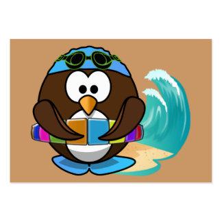 búho del nadador tarjetas de visita grandes