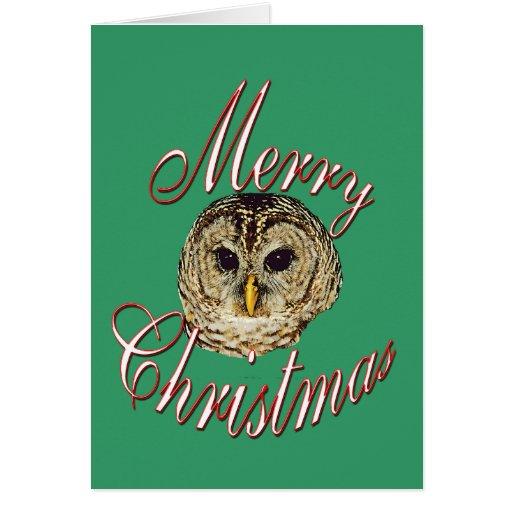 Búho del navidad felicitación