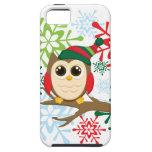 Búho del navidad iPhone 5 Case-Mate coberturas