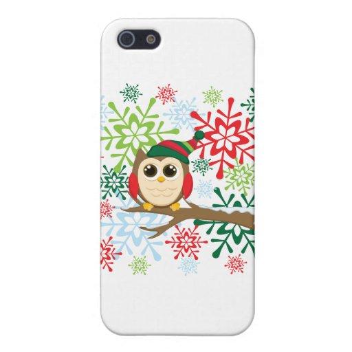 Búho del navidad iPhone 5 funda