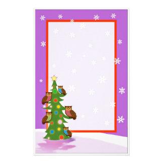 Búho del navidad papeleria personalizada