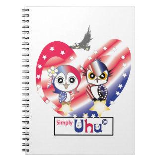 Búho del patriota de los E.E.U.U. Cuadernos