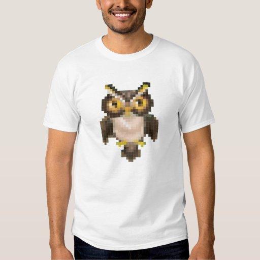 Búho del pixel camisas