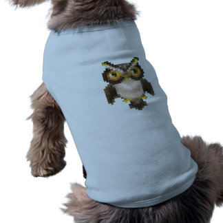 Búho del pixel camiseta de perro