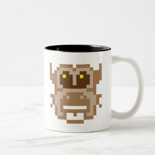 Búho del pixel taza