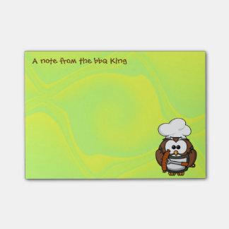 búho del rey del Bbq Nota Post-it