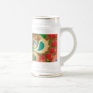 Búho del rojo del arte abstracto tazas de café