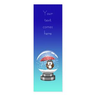 búho del snowglobe tarjetas de visita