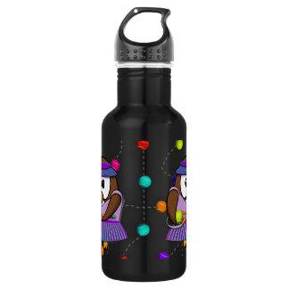 búho del tenis - chica botella de agua