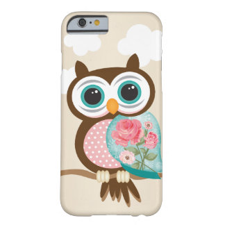 Búho del vintage funda barely there iPhone 6