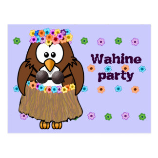 búho del wahine tarjeta postal