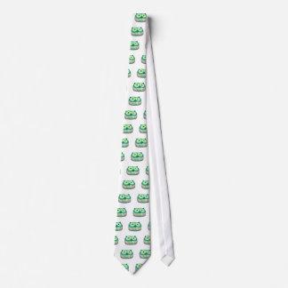 búho delicado de la aguamarina corbata personalizada