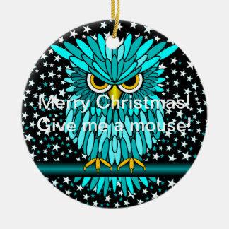 búho divertido del navidad adorno para reyes