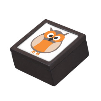 Búho divertido el mirar fijamente cajas de regalo de calidad