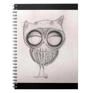 Búho en el Gato-Gorra - cuaderno
