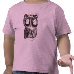Búho en el Panda-Gorra - camisa de los niños
