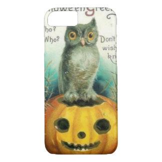 Búho en la calabaza Halloween Funda iPhone 7