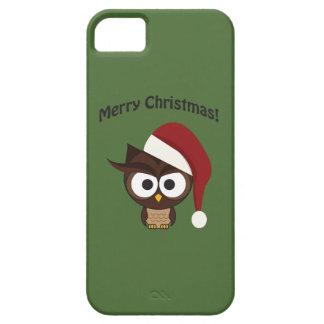 Búho enojado de las Felices Navidad Funda Para iPhone SE/5/5s