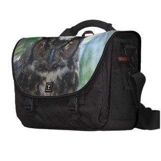 Búho espigado largo sabio bolsas para ordenador