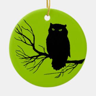 Búho fantasmagórico adaptable ornamento para arbol de navidad
