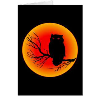 Búho fantasmagórico tarjeta de felicitación
