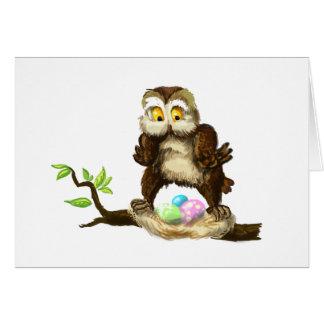 Búho feliz de Pascua Tarjeta De Felicitación