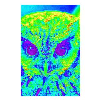 búho fluorescente papelería
