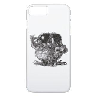 Búho fresco animal divertido funda iPhone 7 plus