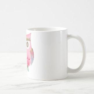 Búho gitano rosado taza de café