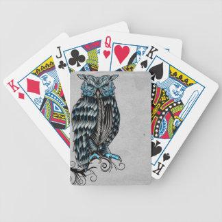 Búho gótico azul Halloween Baraja Cartas De Poker