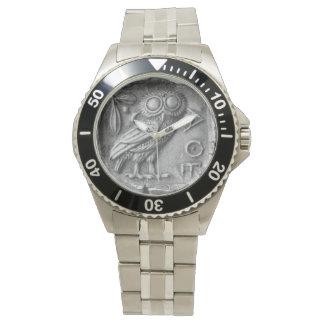 Búho griego reloj de mano