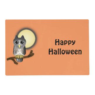 Búho Haloween feliz de Halloween Tapete Individual