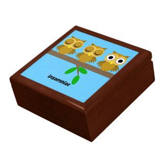 búho insomne divertido cajas de joyas