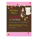 Búho, invitaciones de la fiesta de cumpleaños