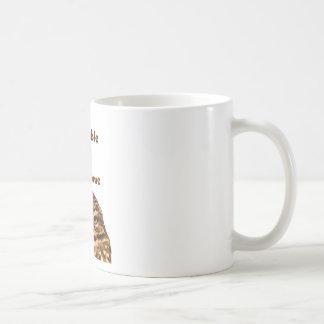 Búho irritable taza básica blanca