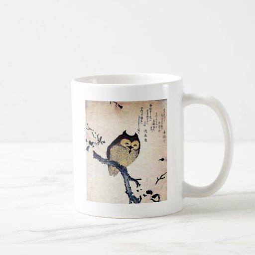 Búho japonés tazas