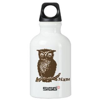 Búho lindo botella de agua
