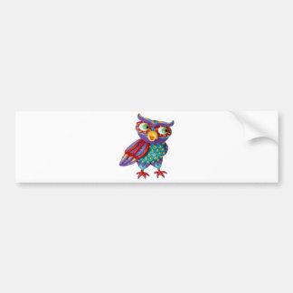 Búho lindo etiqueta de parachoque