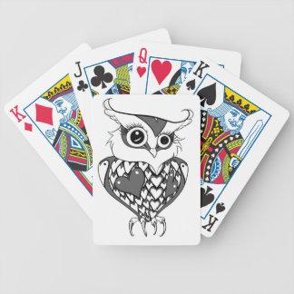 Búho lindo cartas de juego