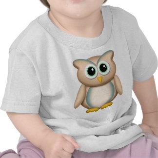 Búho lindo con el azul - camiseta infantil