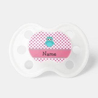 Búho lindo conocido personalizado chupetes para bebés