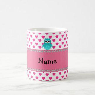 Búho lindo conocido personalizado taza clásica