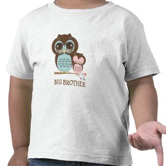 Búho lindo de hermano mayor con el SIS soñoliento  Camiseta