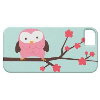 Búho lindo de la primavera iPhone 5 fundas