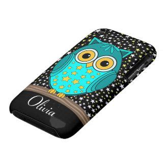 búho lindo de la turquesa Case-Mate iPhone 3 carcasas