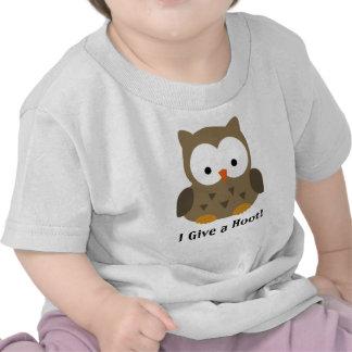 Búho lindo del bebé personalizado camisetas