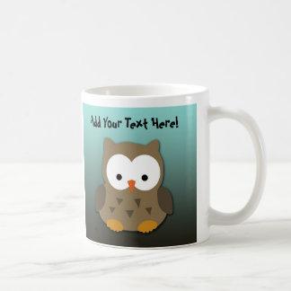 Búho lindo del bebé personalizado taza
